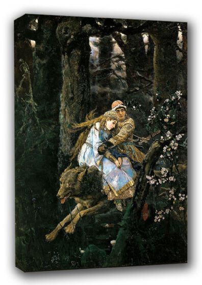 Vasnetsov, Viktor: Prince Ivan on the Grey Wolf, 1889. Fine Art Canvas. Sizes: A3/A2/A1 (00586)